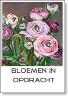 Bloemen in olieverf in opdracht