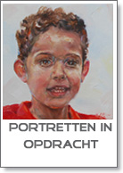 portret in opdracht in olieverf