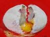 Broken egg 5x5 cm te koop