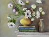 Olieverf schilderij opdracht Anemonen 50x50x3 cm