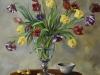 opdracht olieverf schilderij tulpen 50x50 cm