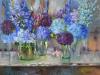 Blauwe-hortensias-in-glazen-vazen te koop