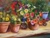 olieverf -Bloemenwinkel schilderij te koop