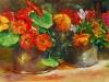 Olieverf Tuinbloemen maat 20 x 35 cm op paneel
