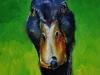 Olieverfschilderij Eend 10 x 10 cm te koop