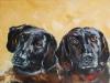 olieverf schilderij opdracht Tom en Sem (Verkocht)
