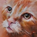 H20 Olieverfschilderij Poes 10 x 10 cm (give away)