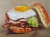 Broodje bacon and egg maat 20x20 cm (Verkocht)