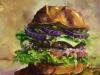 Hamburger met tomaat en ui 20x20 cm