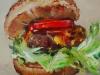 """olieverf """"Hamburger en tomaat"""" te koop"""