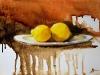 Olieverf citroenen-op-een-bord te koop, maat 18 x 24 cm