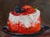 Olieverf Crème gebakje mat 14 x 14 cm te koop