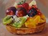 """Olieverf """"Vruchtentaartje"""" 14x14cm (Verkocht)"""