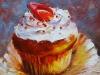 Olieverf cupcake Orange te koop