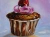 cupcake met framboos 10x10 cm te koop