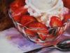 Olieverf op paneel vanille-ijs-met-aardbeien