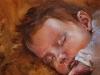 Maarten 2 maanden, canvas maat 20 x 20 cm