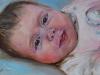 Olieverf schilderij baby