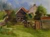 Olieverf Zicht op de Molendijk, maat 18 x 23 cm, Plein air schilderij