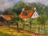 Olieverf Plein air schilderij Veere