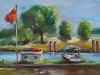 plein air olieverf Arne Middelburg