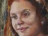 Olieverf studie vrouw 18x13cm