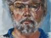 Portret plein air studie Henk, maat 40x30 cm