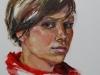 Studie in olieverf Portret Vrouw