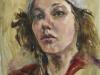 portret-studie-meisje-met-muts te koop