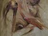 Olieverf studie-in-kleur-naaktmodel