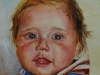 Olieverf schilderij Joris 5 1/2 maand, olieverf