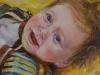 Olieverf schilderij Baby Joris 6 maanden