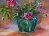 Olieverf bloemen-in-gemberpot (Verkocht)