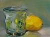 olieverf glas met citroen maat 15x15 cm te koop