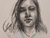 Houtskool-portret-studie