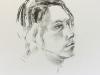 Model Emanuel, houtskool op tekenpapier