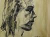 houtskool portret studie
