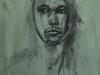 portret houtskool studie Emannuel