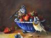 olieverf-Blauwborstjes-met-kommetje-aardbeien te koop
