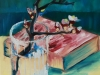 Olieverf cursiste Rozemarijn, maat 30 x 24 cm
