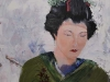 geisha in olieverf