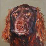 olieverf schilderij van een hond in opdracht email mij voor ook een opdrachtschilderij